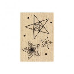 PROMO de -99.99% sur Tampon bois TROIS ÉTOILES Florilèges Design