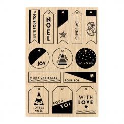 Tampon bois MES PETITES ÉTIQUETTES par Florilèges Design. Scrapbooking et loisirs créatifs. Livraison rapide et cadeau dans c...
