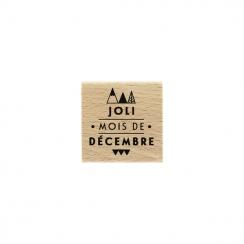 PROMO de -99.99% sur Tampon bois JOLI DÉCEMBRE Florilèges Design