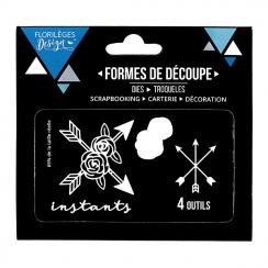 Outils de découpe INSTANTS FLEURIS par Florilèges Design. Scrapbooking et loisirs créatifs. Livraison rapide et cadeau dans c...