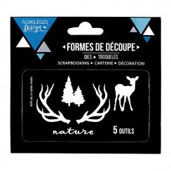 PROMO de -60% sur Outils de découpe NATURE ET SAPINS Florilèges Design