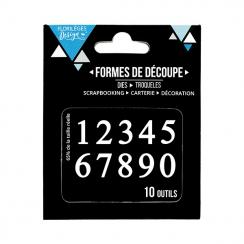 PROMO de -20% sur Outils de découpe DES CHIFFRES Florilèges Design