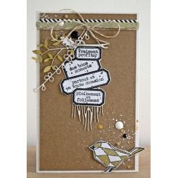 Tampon bois VRAIMENT PROFITER par Florilèges Design. Scrapbooking et loisirs créatifs. Livraison rapide et cadeau dans chaque...