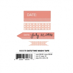 Set de masking tapes DATE AND TIME CORAL