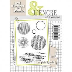 Tampons clear LES P'TITS RONDS par L'Encre et l'Image. Scrapbooking et loisirs créatifs. Livraison rapide et cadeau dans chaq...