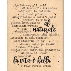 Tampon bois italien AL NATURALE par Florilèges Design. Scrapbooking et loisirs créatifs. Livraison rapide et cadeau dans chaq...