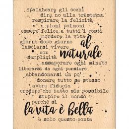 Tampon bois italien AL NATURALE