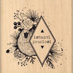 Tampon bois italien ISTANTI AL NATURALE par Florilèges Design. Scrapbooking et loisirs créatifs. Livraison rapide et cadeau d...