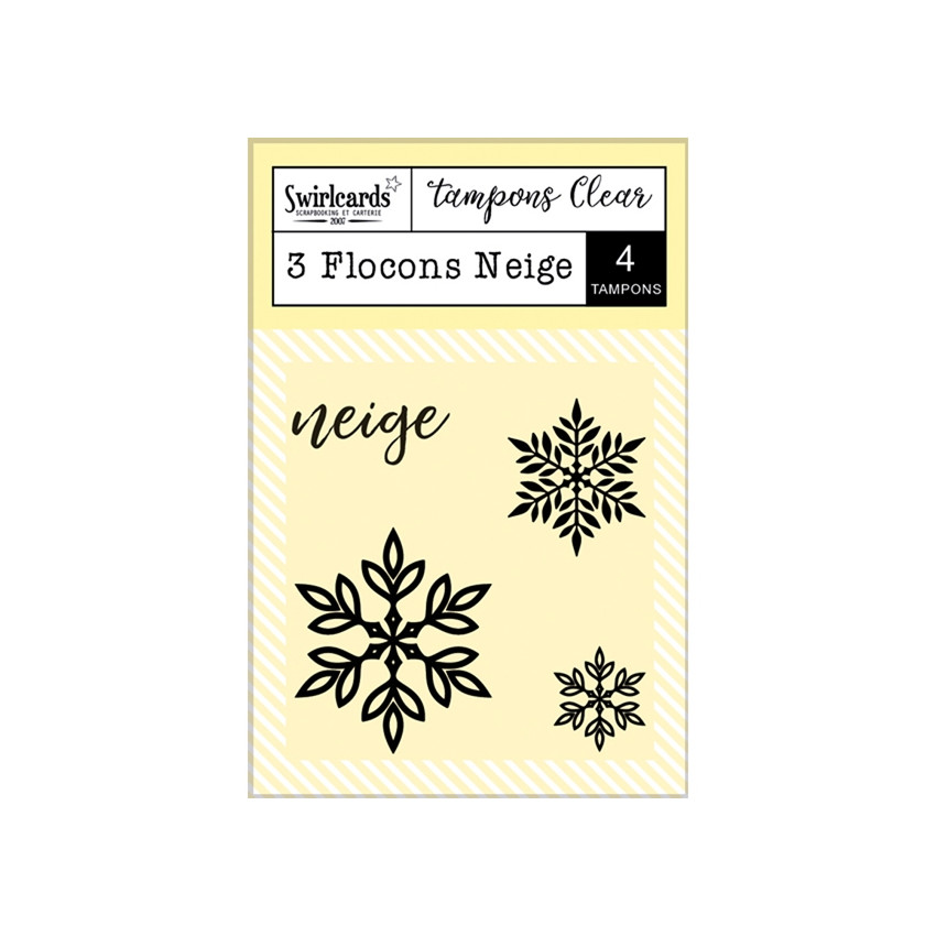 Tampons Clear 3 Flocons Neige