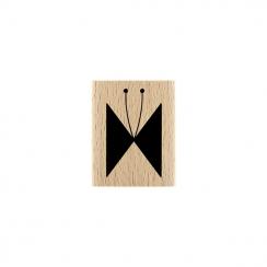 Tampon bois PAPILLON LIGNÉ par Florilèges Design. Scrapbooking et loisirs créatifs. Livraison rapide et cadeau dans chaque co...
