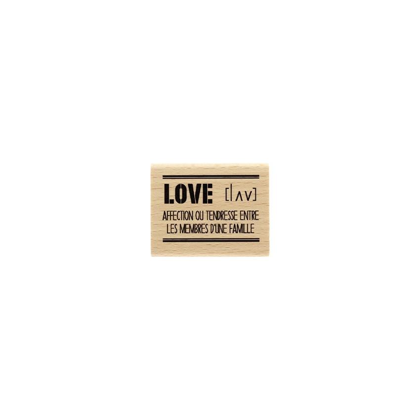 Tampon bois Love Définition