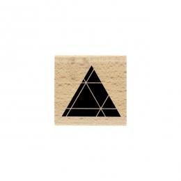 PROMO de -99.99% sur Tampon bois TRIANGLE NOIR Florilèges Design