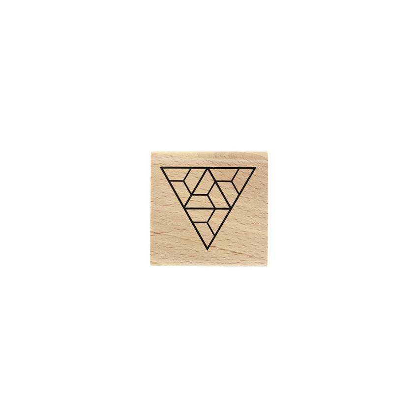 Tampon bois Triangle Labyrinthe