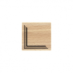 Tampon bois COIN GRAPHIQUE par Florilèges Design. Scrapbooking et loisirs créatifs. Livraison rapide et cadeau dans chaque co...