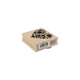 Tampon bois CARRÉS CŒUR par Florilèges Design. Scrapbooking et loisirs créatifs. Livraison rapide et cadeau dans chaque comma...