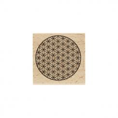 Tampon bois ROND FLEURI par Florilèges Design. Scrapbooking et loisirs créatifs. Livraison rapide et cadeau dans chaque comma...