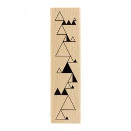 Tampon bois Triangles Enchaînés