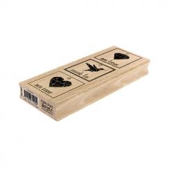 Tampon bois 3 PRÉCIEUX par Florilèges Design. Scrapbooking et loisirs créatifs. Livraison rapide et cadeau dans chaque commande.
