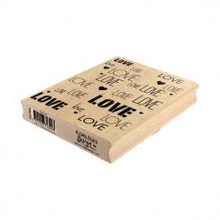 Tampon bois Fond Love