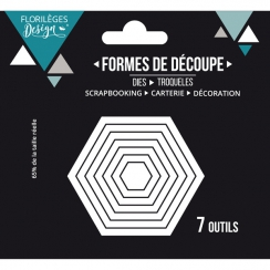 PROMO de -30% sur Outils de découpe HEXAGONES BASIQUES Florilèges Design