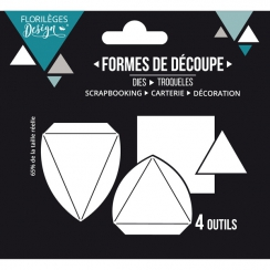 Outils de découpe PYRAMIDES par Florilèges Design. Scrapbooking et loisirs créatifs. Livraison rapide et cadeau dans chaque c...