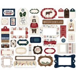 Die-cuts cadres et tags CABIN FEVER