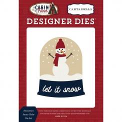 Dies Cabin Fever SNOWMAN SNOW GLOBE