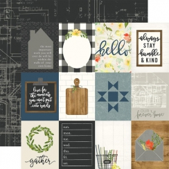 Papier imprimé Welcome Home 3X4 JOURNALING CARDS
