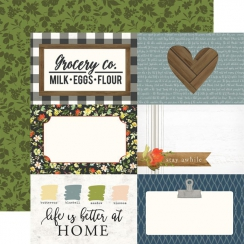 Papier imprimé Welcome Home 4X6 JOURNALING CARDS