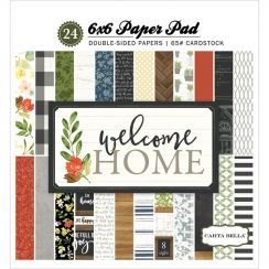 Bloc papiers imprimés 15 x 15 cm WELCOME HOME