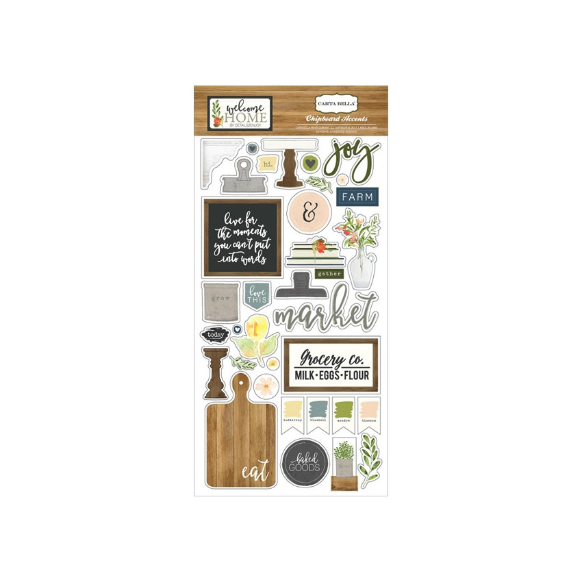 Chipboards WELCOME HOME