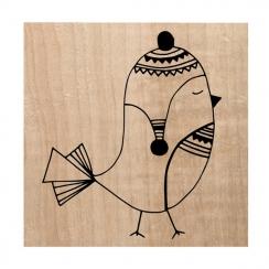 Tampon bois MR PIOU PIOU par Chou and Flowers. Scrapbooking et loisirs créatifs. Livraison rapide et cadeau dans chaque comma...