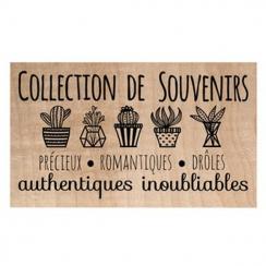 Tampon bois COLLECTION DE SOUVENIRS