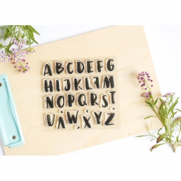 Tampons clear ALPHABET BRUSH BIG LETTERS