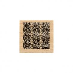 Tampon bois CARRÉ TRICOT par Florilèges Design. Scrapbooking et loisirs créatifs. Livraison rapide et cadeau dans chaque comm...