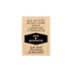 Tampon bois ANNÉE LUMINEUSE par Florilèges Design. Scrapbooking et loisirs créatifs. Livraison rapide et cadeau dans chaque c...