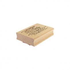 Tampon bois TELLEMENT DE SAISON par Florilèges Design. Scrapbooking et loisirs créatifs. Livraison rapide et cadeau dans chaq...
