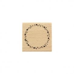 Tampon bois RONDE ÉTOILÉE par Florilèges Design. Scrapbooking et loisirs créatifs. Livraison rapide et cadeau dans chaque com...