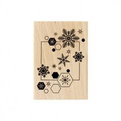 Tampon bois ENVOL DE FLOCONS par Florilèges Design. Scrapbooking et loisirs créatifs. Livraison rapide et cadeau dans chaque ...