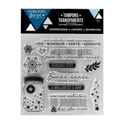 Tampons clear VŒUX ÉTOILÉS - Capsule Fin d'Année 2017 par Florilèges Design. Scrapbooking et loisirs créatifs. Livraison rapi...