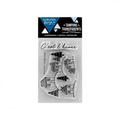 Tampons clear VILLAGE ENNEIGÉ - Capsule Fin d'Année 2017 par Florilèges Design. Scrapbooking et loisirs créatifs. Livraison r...