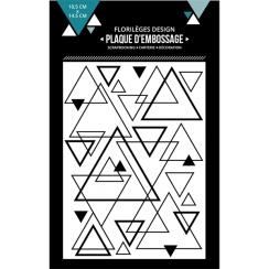Plaque d'embossage MIX DE TRIANGLES
