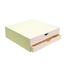 Bloc bois 2 tiroirs par Artemio. Scrapbooking et loisirs créatifs. Livraison rapide et cadeau dans chaque commande.