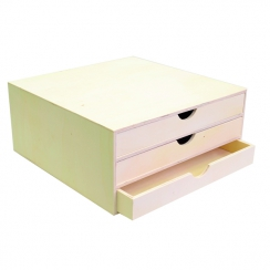 Bloc bois 3 tiroirs par Artemio. Scrapbooking et loisirs créatifs. Livraison rapide et cadeau dans chaque commande.