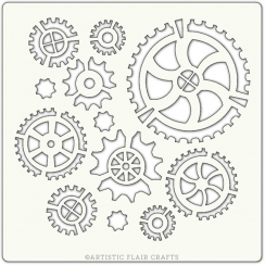 Pochoir COGS AND GEARS