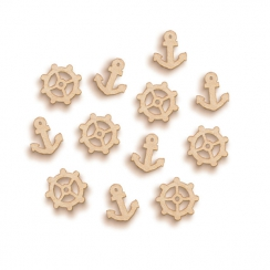 Embellissements bois ANCHORS AND WHEELS