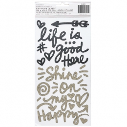 Stickers en mousse pailletée ALL THE GOOD THINGS