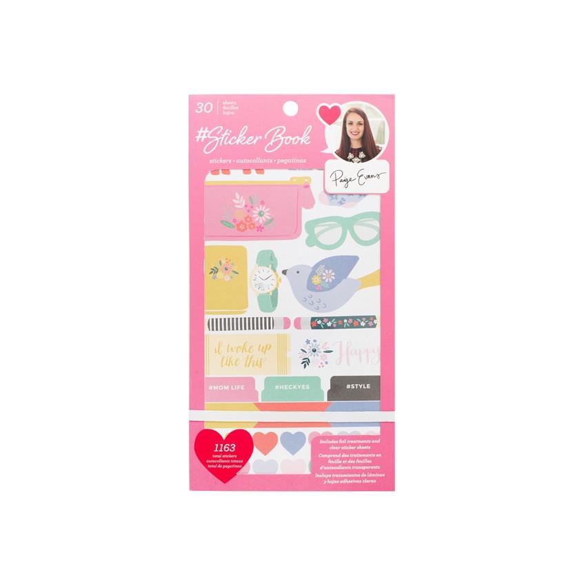 Carnet de stickers PAIGE EVANS