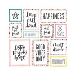 Papier imprimé motifs métallisés Good Vibes BIG HEART