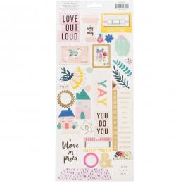 Stickers motifs métallisés GOOD VIBES
